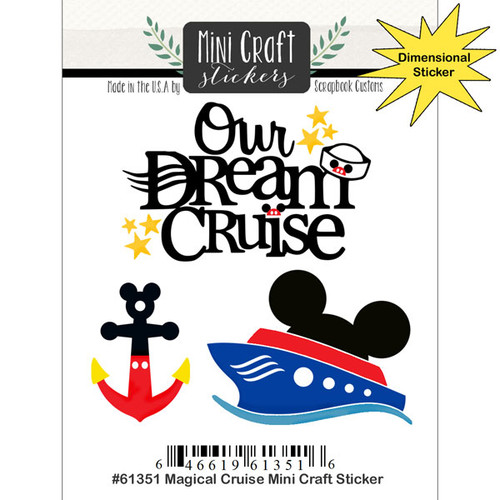 Magical Day of Fun Collection 3 x 5 Magical Cruise Scrapbook Embellishment by Scrapbook Customs
