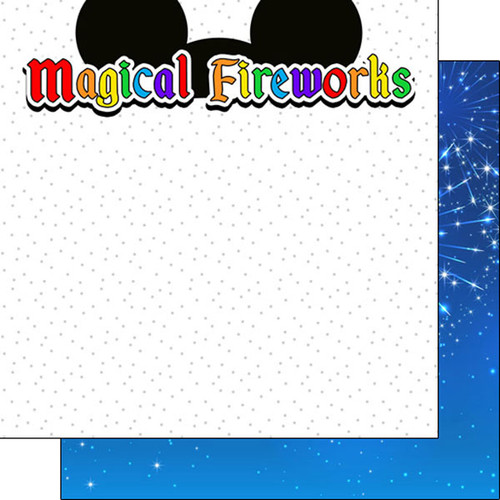 Magical Day of Fun Collection Magical Fireworks Ears 12 x 12 Double-Sided Scrapbook Paper by Scrapbook Customs