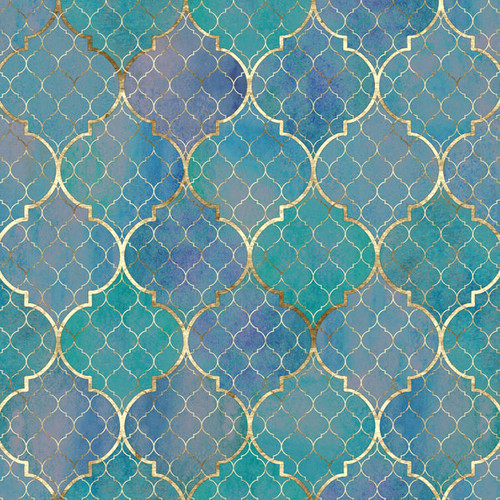 Magical Day of Fun Collection Arabian Princess 12 x 12 Double-Sided Scrapbook Paper by Scrapbook Customs