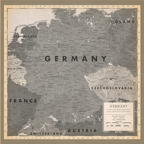 Cartography 2 Collection Germany Map 12 x 12 Double-Sided Scrapbook Paper by Carta Bella