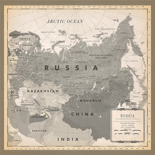 Cartography 2 Collection Russia Map 12 x 12 Double-Sided Scrapbook Paper by Carta Bella