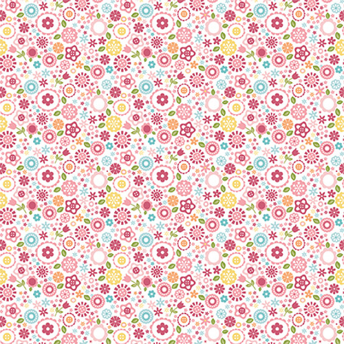 All Girl Collection Teepee Trails 12 x 12 Double-Sided Scrapbook Paper by Echo Park Paper