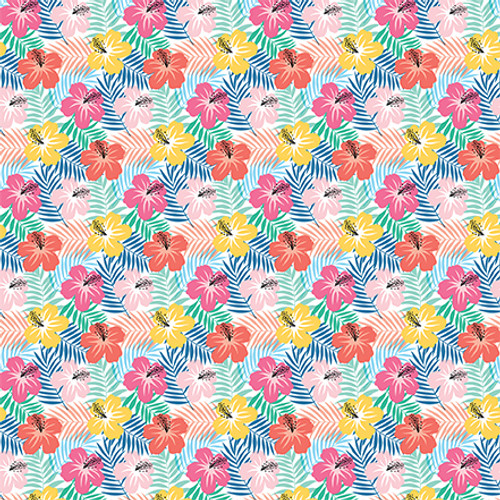 Dive Into Summer Collection 4 x 4 Journaling Cards 12 x 12 Double-Sided Scrapbook Paper by Echo Park Paper