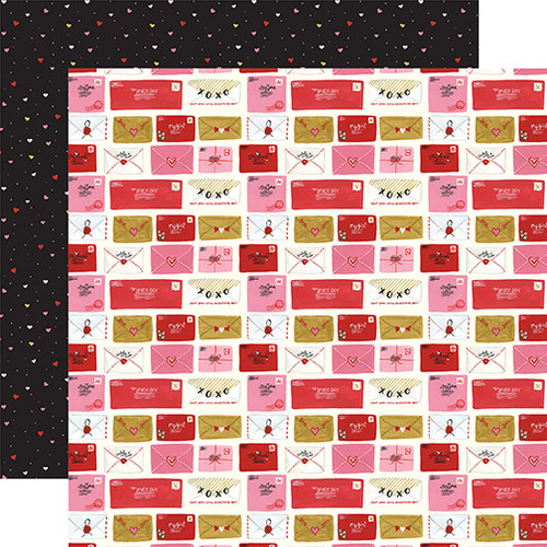 Be My Valentine Collection Love Letters 12 x 12 Double-Sided Scrapbook Paper by Echo Park Paper