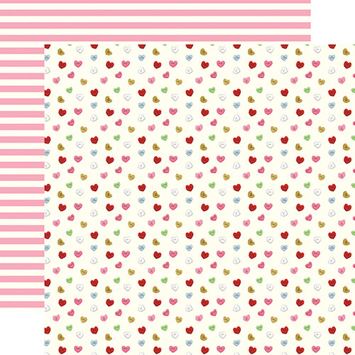 Be My Valentine Collection Candy Hearts 12 x 12 Double-Sided Scrapbook Paper by Echo Park Paper