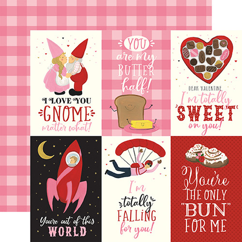 Be My Valentine Collection 4 x 6 Journaling Cards 12 x 12 Double-Sided Scrapbook Paper by Echo Park Paper