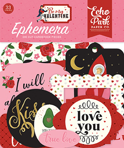 Be My Valentine Collection Ephemera 5 x 5 Scrapbook Die Cuts by Echo Park Paper