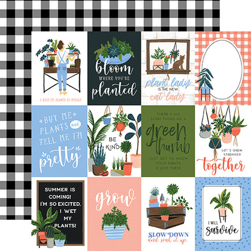 Plant Lady Collection 3 x 4 Journaling Cards 12 x 12 Double-Sided Scrapbook Paper by Echo Park Paper