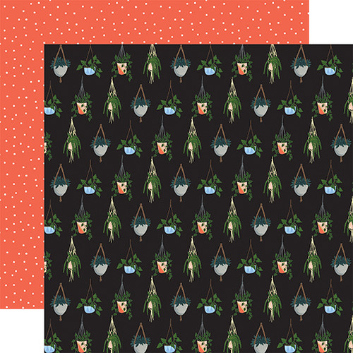 Plant Lady Collection Hanging Plants 12 x 12 Double-Sided Scrapbook Paper by Echo Park Paper