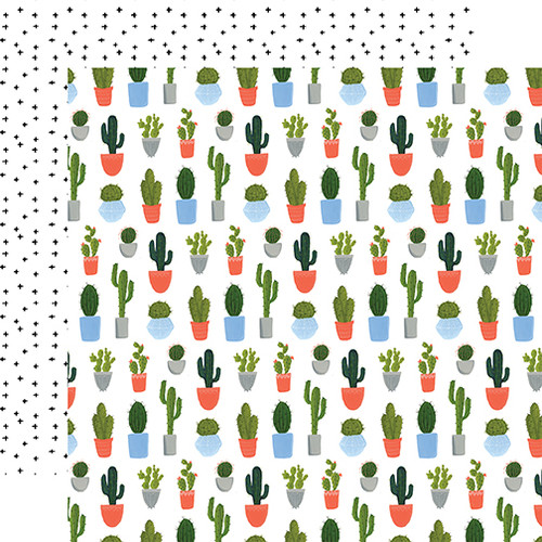 Plant Lady Collection Cacti 12 x 12 Double-Sided Scrapbook Paper by Echo Park Paper
