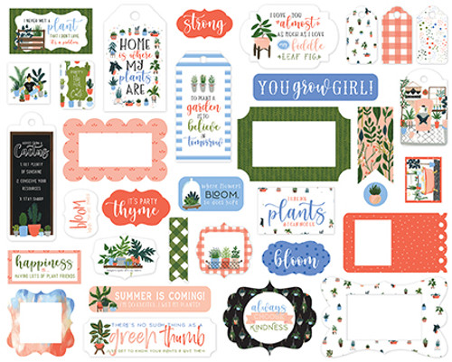 Plant Lady Collection Tags & Frames 5 x 5 Scrapbook Die Cuts by Echo Park Paper