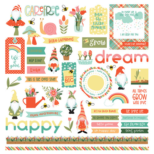 Tulla & Norbert Collection Elements 12 x 12 Scrapbook Sticker Sheet by Photo Play Paper