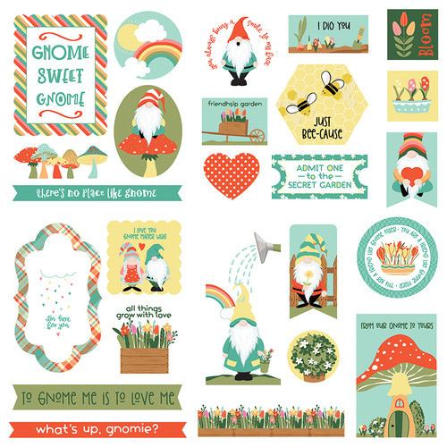 Tulla & Norbert Collection Ephemera 5 x 5 Scrapbook Die Cuts by Photo Play Paper