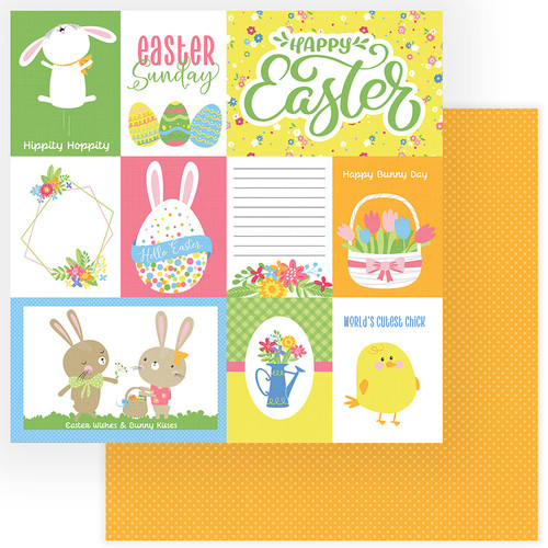 Easter Wishes Collection Happy Easter 12 x 12 Double-Sided Scrapbook Paper by Photo Play Paper