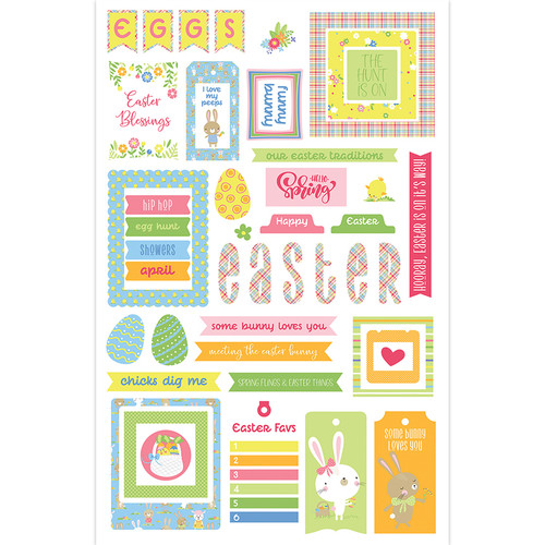 Easter Wishes Collection Ephemera 5 x 5 Scrapbook Die Cuts by Photo Play Paper