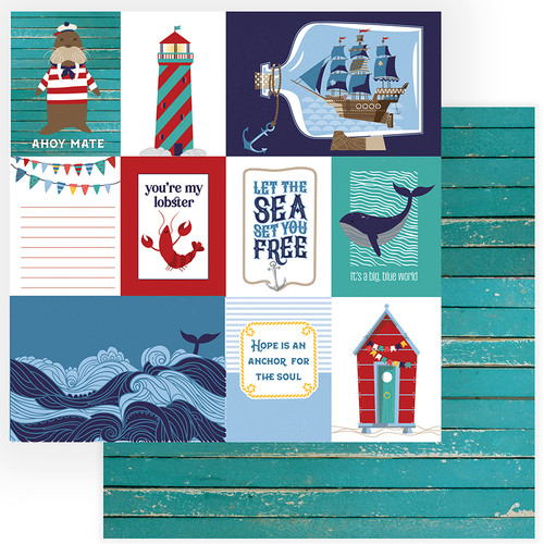 Monterey Bay Collection Set Sail 12 x 12 Double-Sided Scrapbook Paper by Photo Play Paper