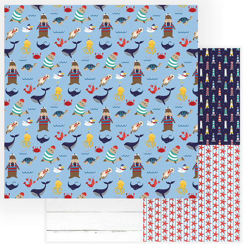 Monterey Bay Collection On The Deck 12 x 12 Double-Sided Scrapbook Paper by Photo Play Paper
