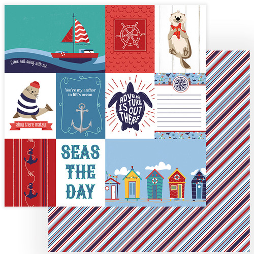 Monterey Bay Collection Seas The Day 12 x 12 Double-Sided Scrapbook Paper by Photo Play Paper