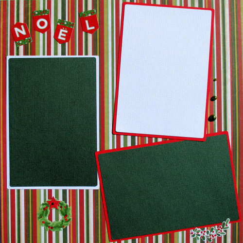 Noel Premade Embellished Two-Page 12 x 12 Scrapbook Layout by MB Designs