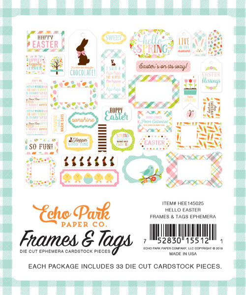Hello Easter Collection Frames and Tags  by Echo Park Paper