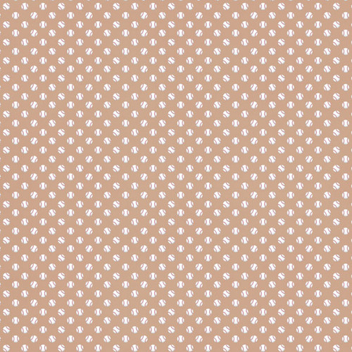 Sports Addict Collections Baseball Addict 3 12 x 12 Double-Sided Scrapbook Paper by Scrapbook Customs