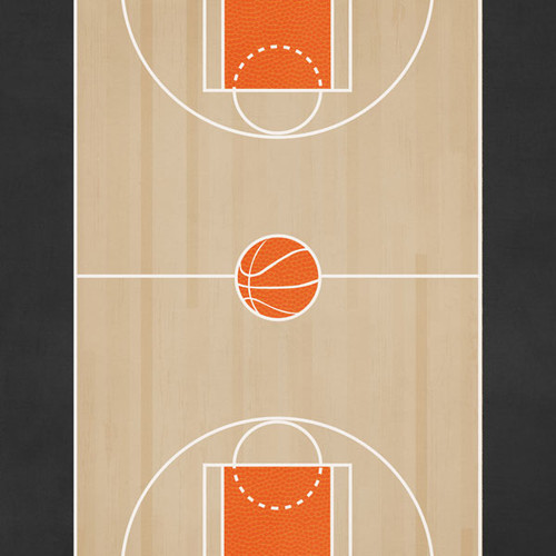 Sports Addict  Collections Basketball Addict 3 12 x 12 Double-Sided Scrapbook Paper by Scrapbook Customs
