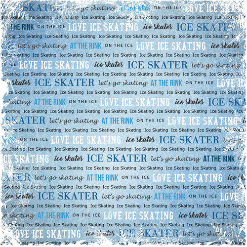 Winter Adventure Collection Ice Skating 12 x 12 Double-Sided Scrapbook Paper by Scrapbook Customs