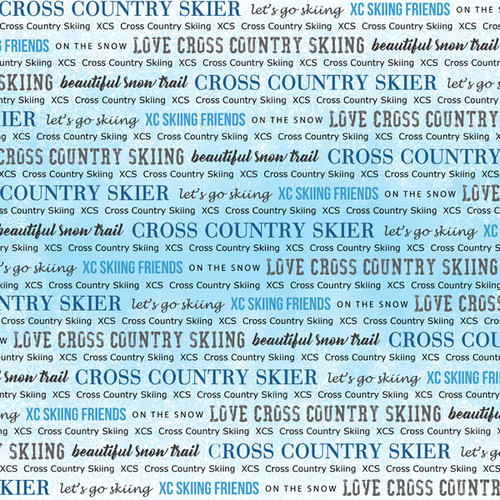 Winter Adventure Collection Cross Country Skiing 12 x 12 Double-Sided Scrapbook Paper by Scrapbook Customs