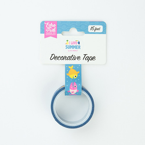 I Love Summer Collection Summer Splash Decorative Tape by Echo Park Paper - 15 Feet