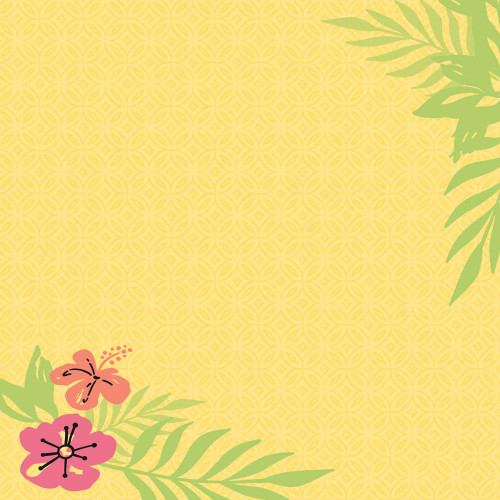 Tropics Collection Flamingo Tags 12 x 12 Double-Sided Scrapbook Paper by  Paper House Productions