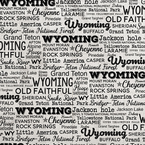 Postage Map Collection Wyoming 12 x 12 Scrapbook Paper by Scrapbook Customs