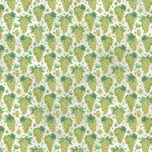 Grapes Collection White Wine 12 x 12 Double-Sided Scrapbook Paper by Scrapbook Customs