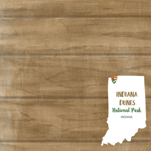 Indiana National Park Indiana Dunes 12 x 12 Double-Sided Scrapbook Paper by Scrapbook Customs