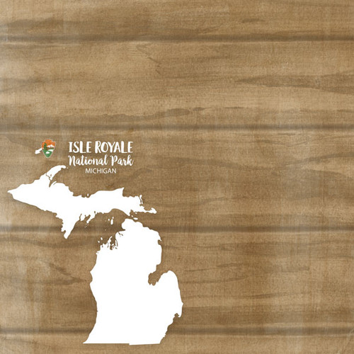Michigan National Park Isle Royale 12 x 12 Double-Sided Scrapbook Paper by Scrapbook Customs