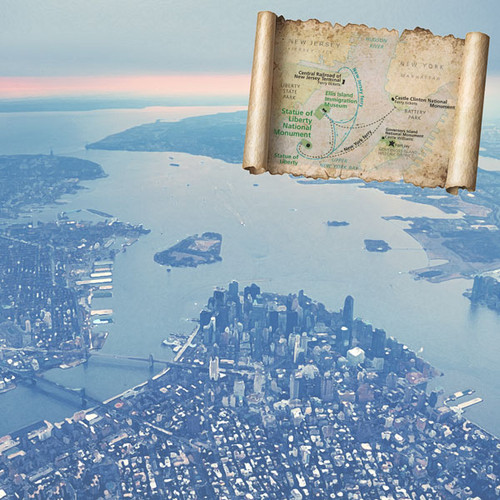 New York National Monument Statue of Liberty 12 x 12 Double-Sided Scrapbook Paper by Scrapbook Customs