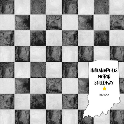 Indianapolis Motor Speedway 12 x 12 Double-Sided Scrapbook Paper by Scrapbook Customs
