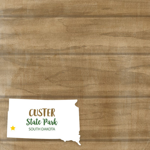 South Dakota State Park Custer 12 x 12 Double-Sided Scrapbook Paper by Scrapbook Customs