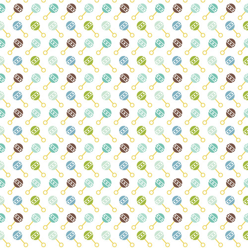Sweet Baby Boy Collection Border Strips 12 x 12 Double-Sided Scrapbook Paper by Echo Park Paper