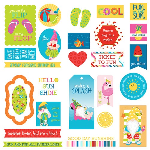 Tulla & Norbert's Excellent Adventure Collection Ephemera 5 x 5 Scrapbook Die Cuts by Photo Play Paper