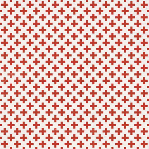 Covid-19 Collection Red Cross 12 x 12 Double Sided Scrapbook Paper by Scrapbook Customs