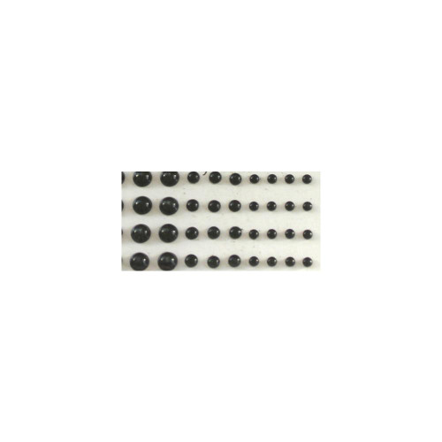 Our Brads Need Friends Collection Black Multi-Sized Self-Adhesive Pearls by Eyelet Outlet - 100 Pearls
