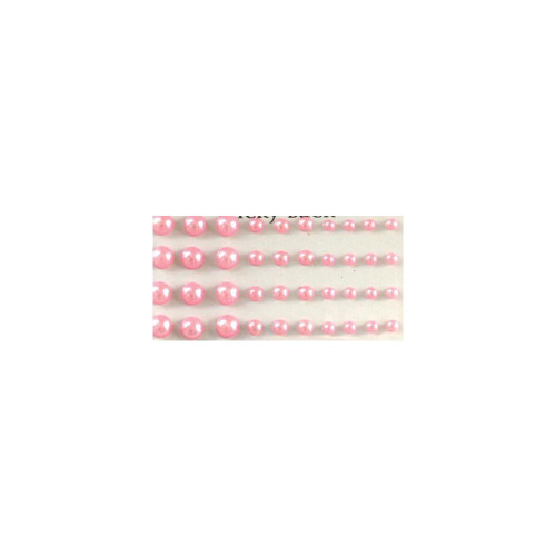 Our Brads Need Friends Collection Pink Multi-Sized Self-Adhesive Pearls by Eyelet Outlet - 100  Pearls