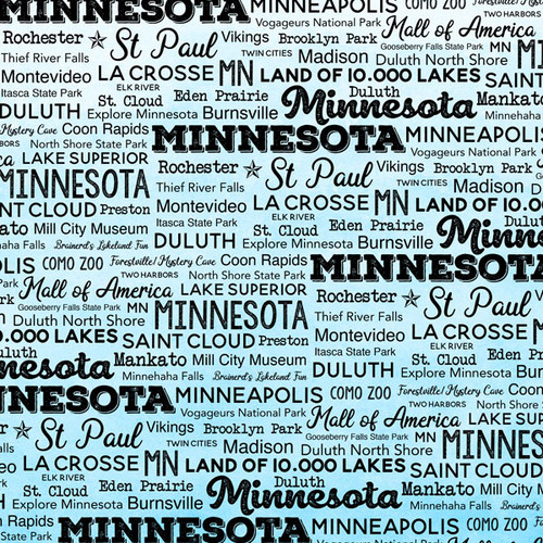 Postage Map Collection Minnesota 12 x 12 Scrapbook Paper by Scrapbook Customs