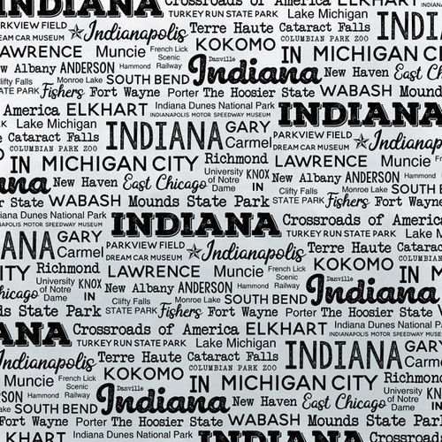 Postage Map Collection Indiana 12 x 12 Scrapbook Paper by Scrapbook Customs