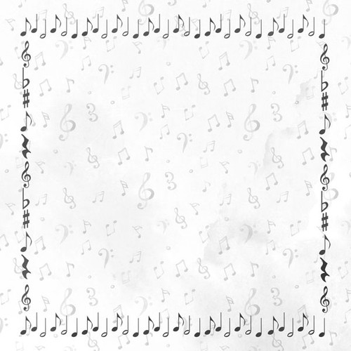 Musical Note Collection Marching Band Companion 12 x 12 Double-Sided Scrapbook Paper By Scrapbook Customs