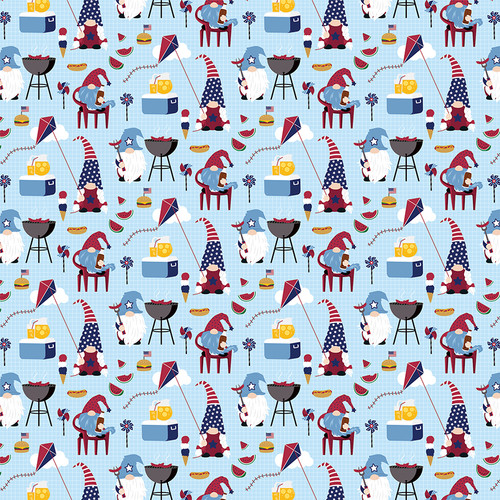 Gnome For The Holidays 4th of July Collection All American 12 x 12 Double-Sided Scrapbook Paper by Photo Play Paper