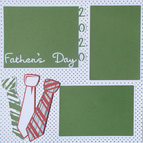 Father's Day Pre-Made & Hand-Embellished 2- 12 x 12 Page Scrapbook Layout by SSC Designs