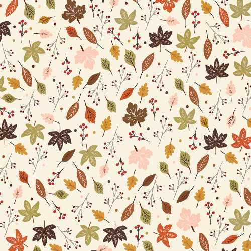 Cozy Days Collection Harvest Wishes 12 x 12 Double-Sided Scrapbook Paper by Simple Stories