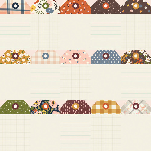Cozy Days Collection Tags 12 x 12 Double-Sided Scrapbook Paper by Simple Stories