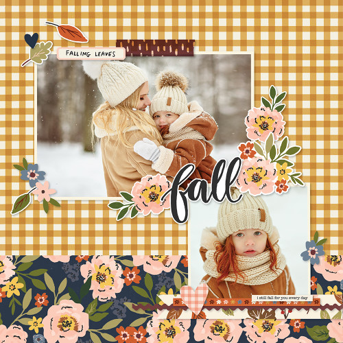 Cozy Days Collection 12 x 12 Scrapbook Sticker Sheet by Simple Stories